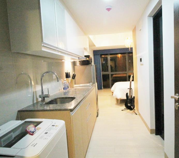 Kitchen at One Eastwood Avenue Apartments, Bagumbayan, Manila