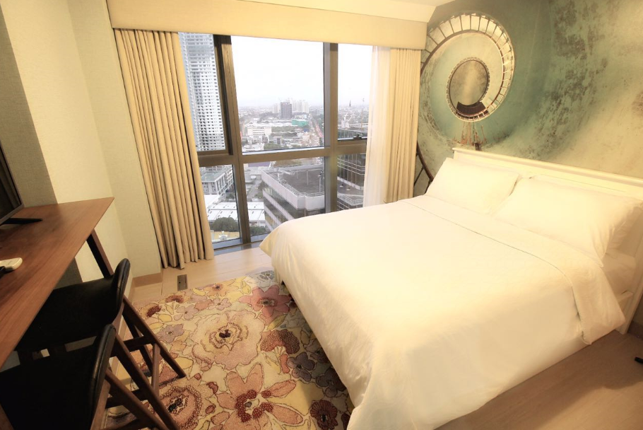 Bed at One Eastwood Avenue Apartments, Bagumbayan, Manila