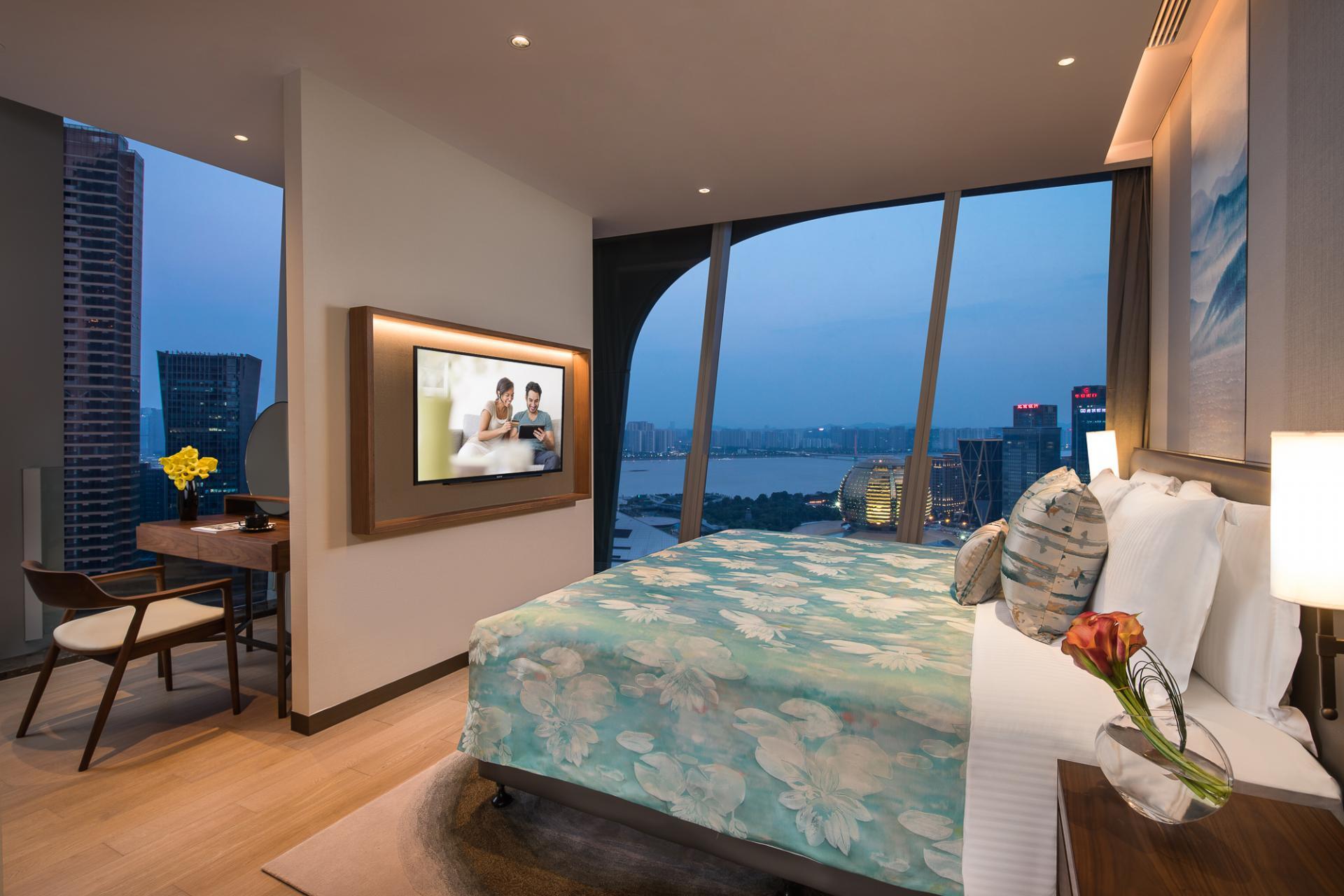 Bedroom at Ascott Raffles City Hangzhou Apartment