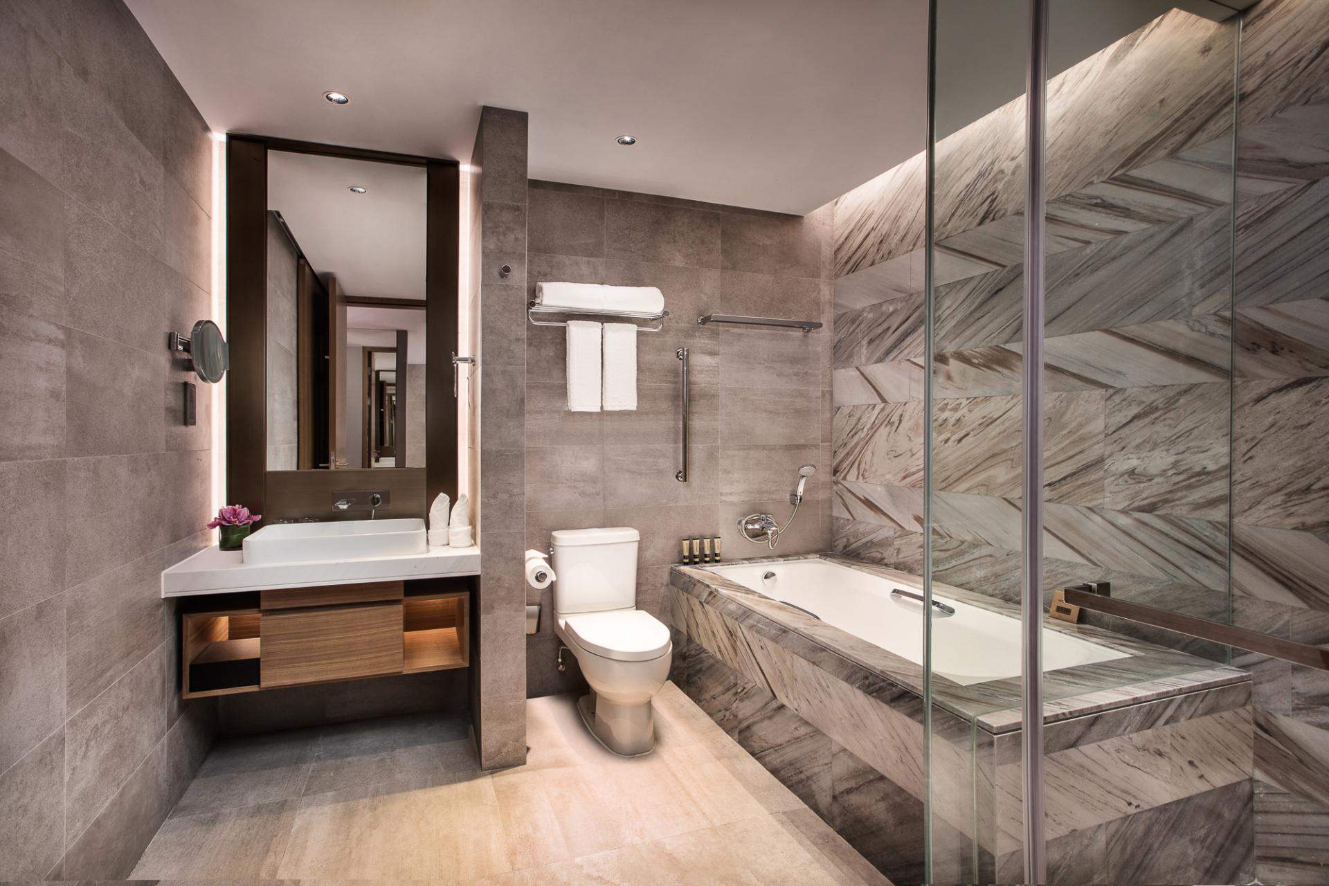 Bathroom at Ascott Raffles City Hangzhou Apartment