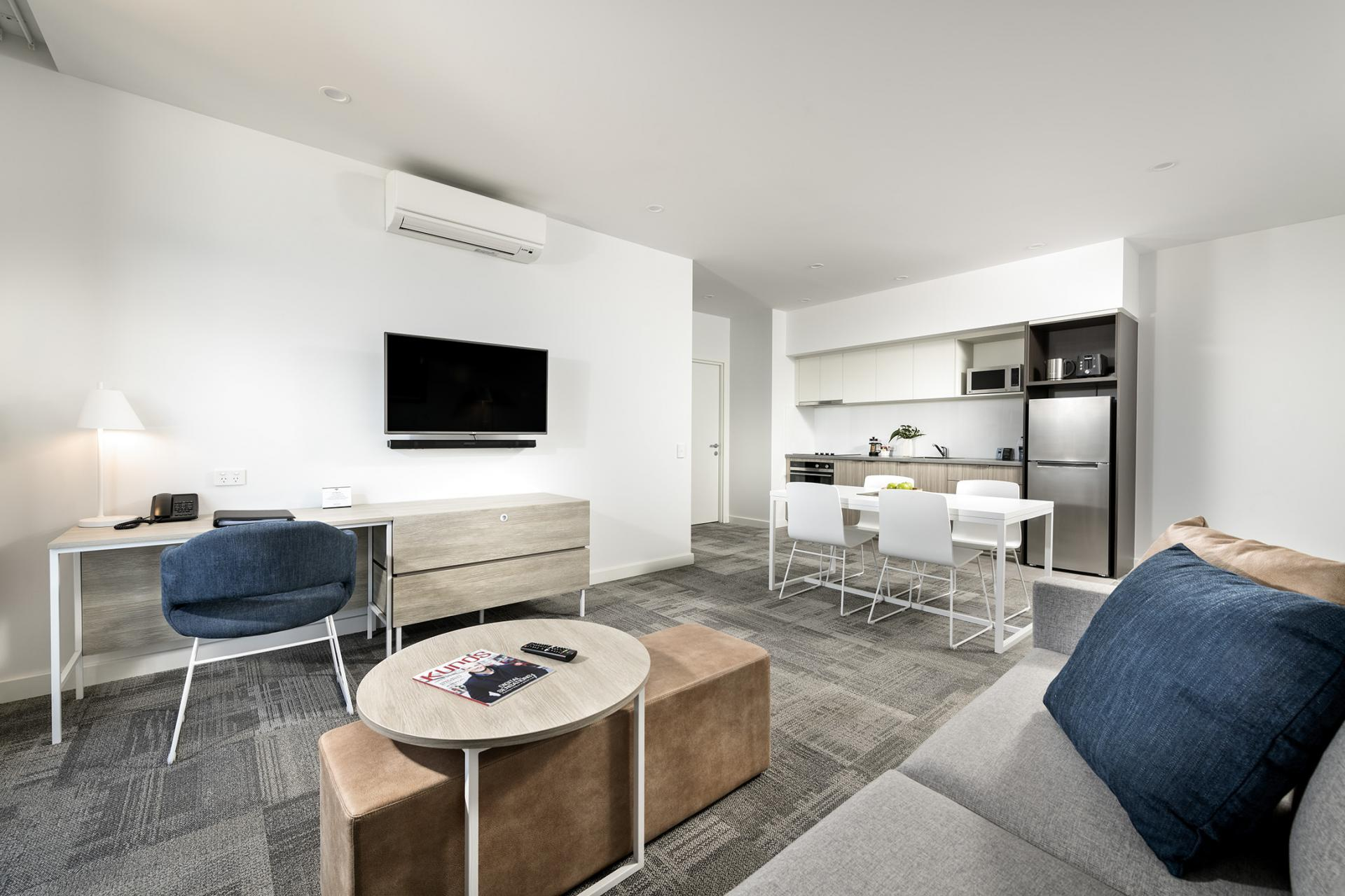 Living room at Quest Midland