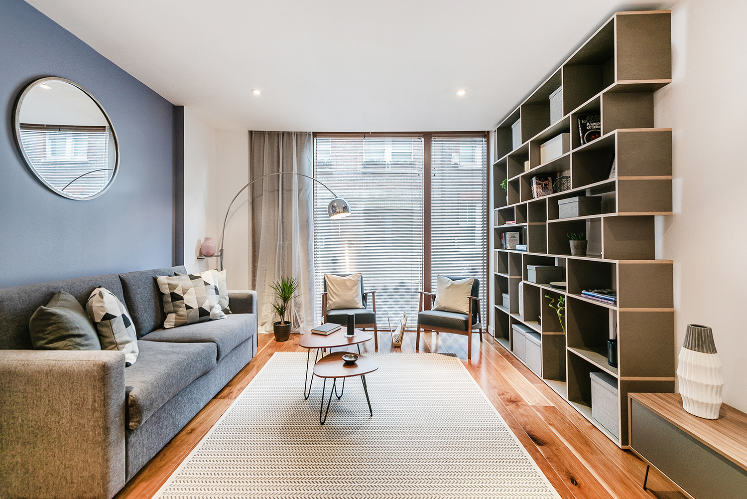 Living room at Peter Street Apartment