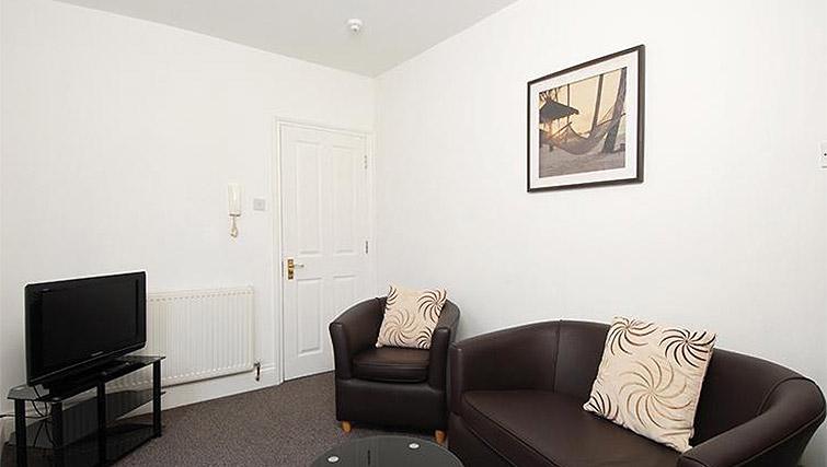 Cosy living area at Trafalgar Place Apartments