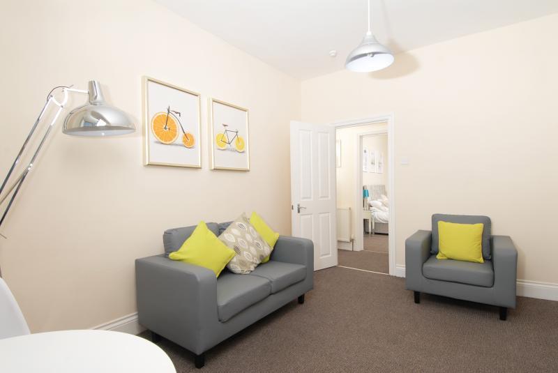 Bright furnishings at Trafalgar Place Apartments