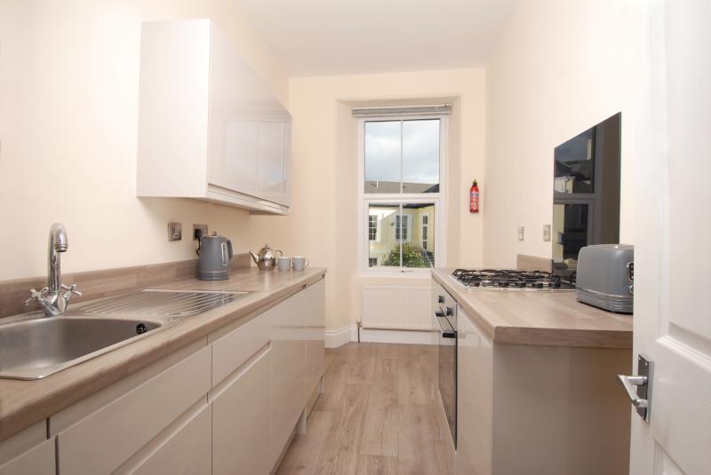 Kitchen at Trafalgar Place Apartments