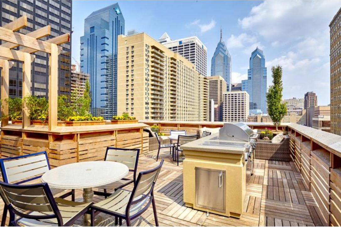Terrace area at Aq Rittenhouse Apartment