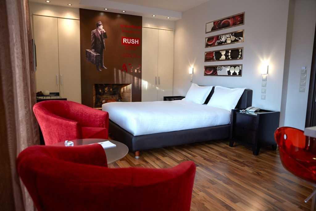Bedroom at Athens Habitat Hotel