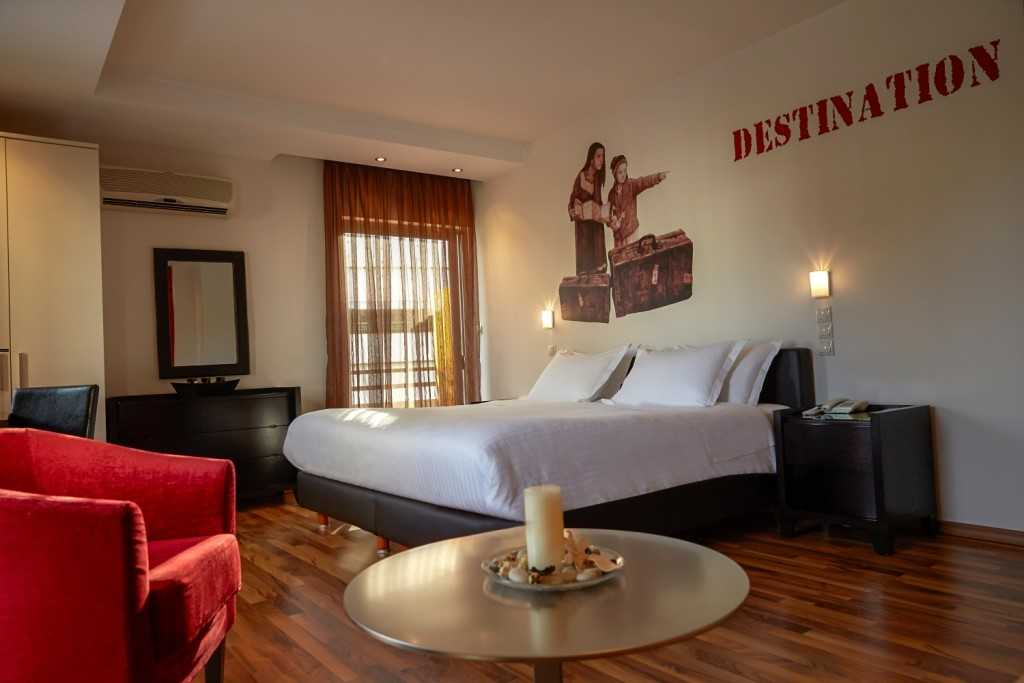 Cosy bedroom at Athens Habitat Hotel