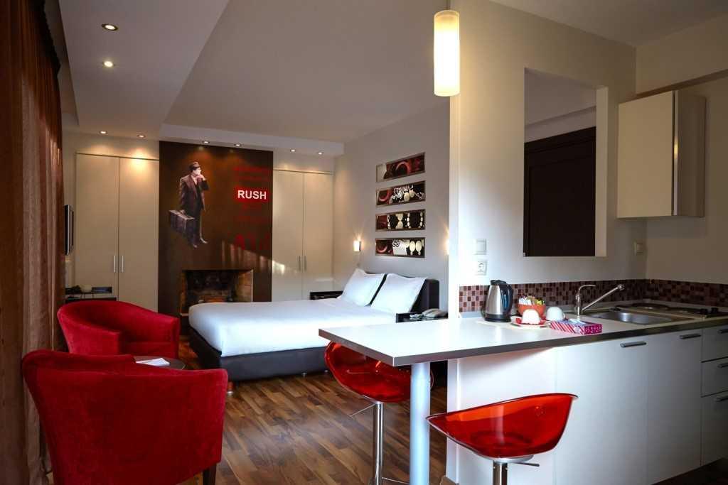 Kitchen facilities at Athens Habitat Hotel