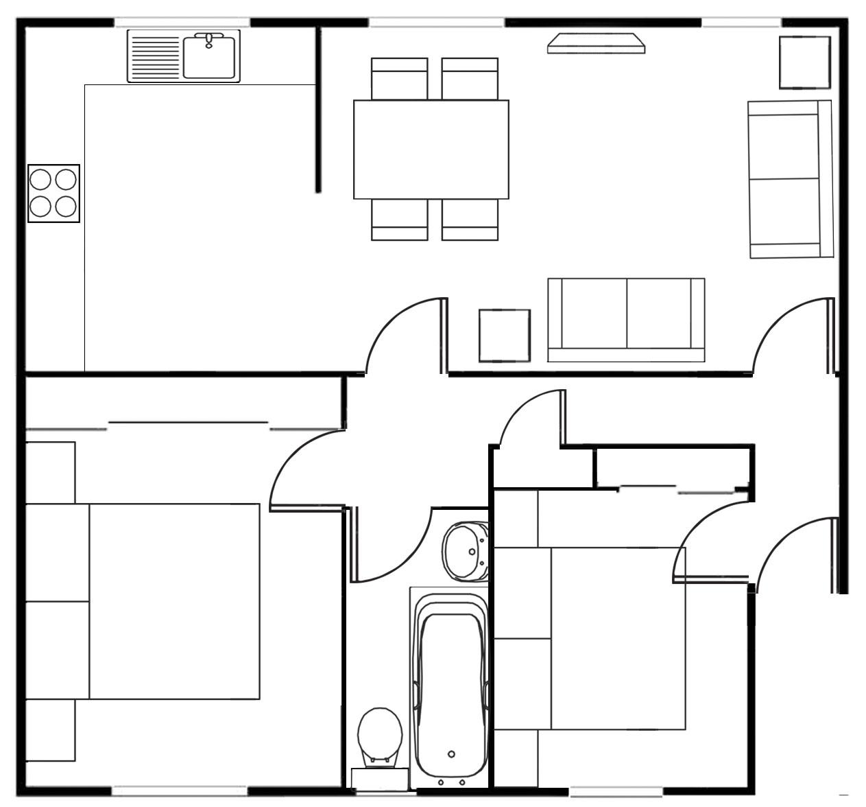 Floor plan at Merchant City