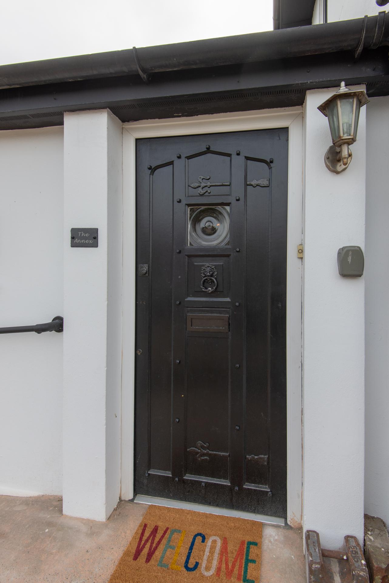 Front door at Annex by the Sea Apartment