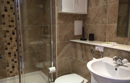 Shower at Exhibition Apartments