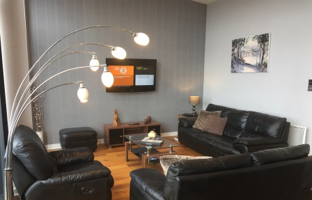 Lounge at Exhibition Apartments
