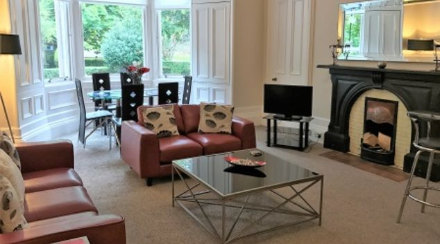 Living area at Rosslyn Terrace Apartment