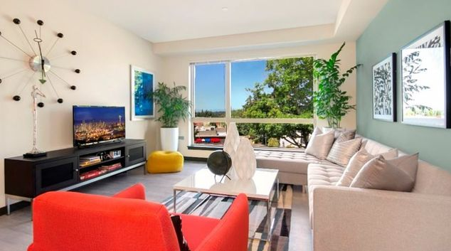 Living room at Belred Road Apartments