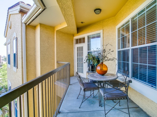 Balcony at Cheval Apartment, Memorial Park, Houston