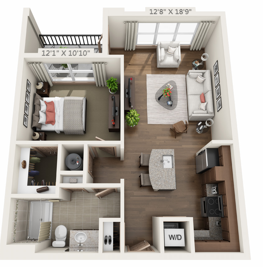 Floor plan 1 at The Orion Apartments