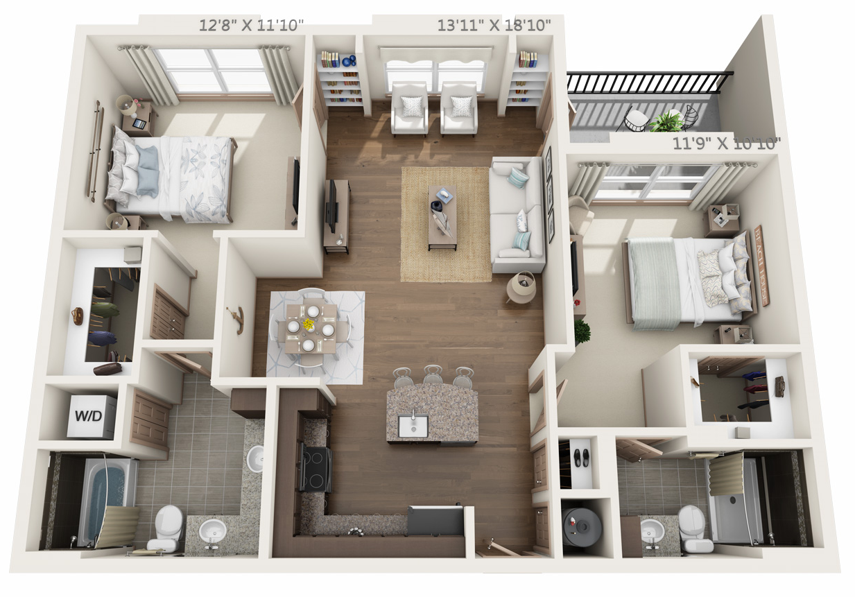 Floor plan 2 at The Orion Apartments