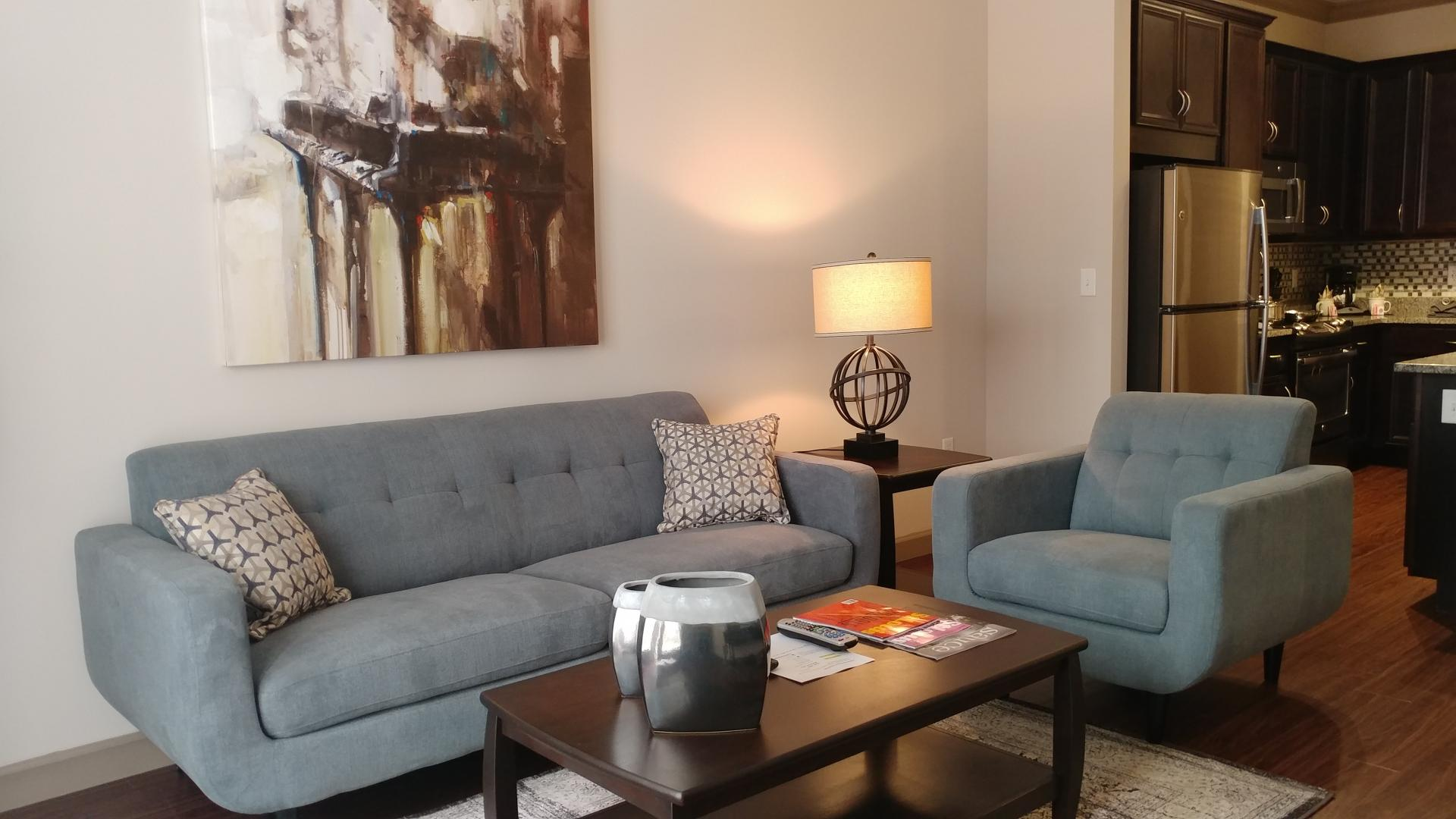 Living room at The Orion Apartments