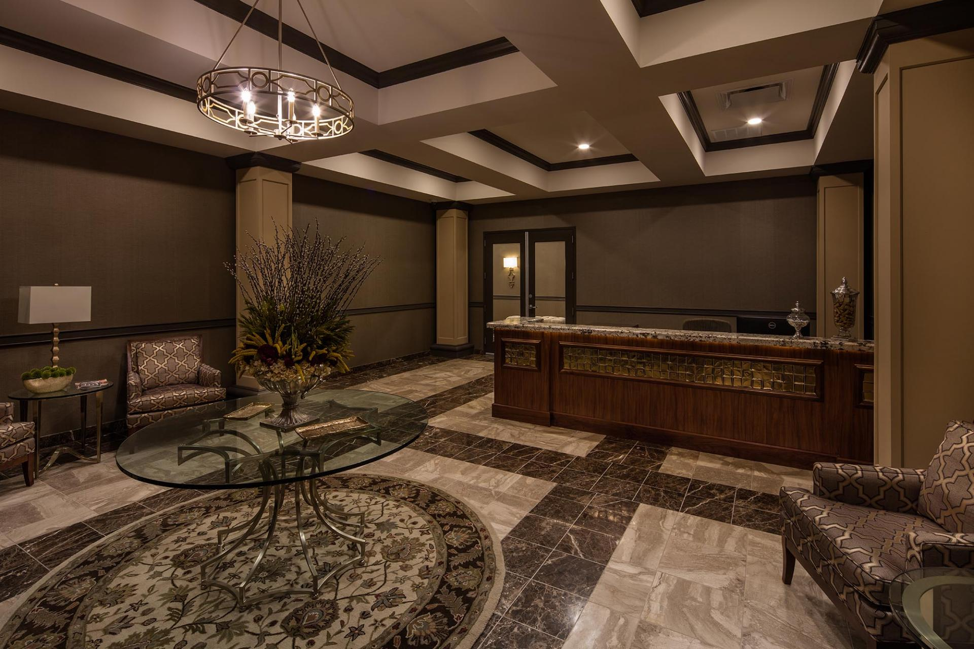 Lobby area at The Orion Apartments