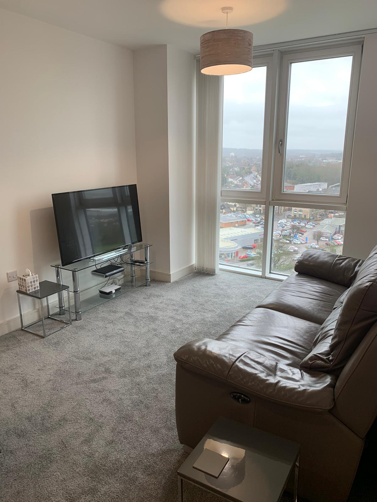 Living room at KD Tower Serviced Apartments