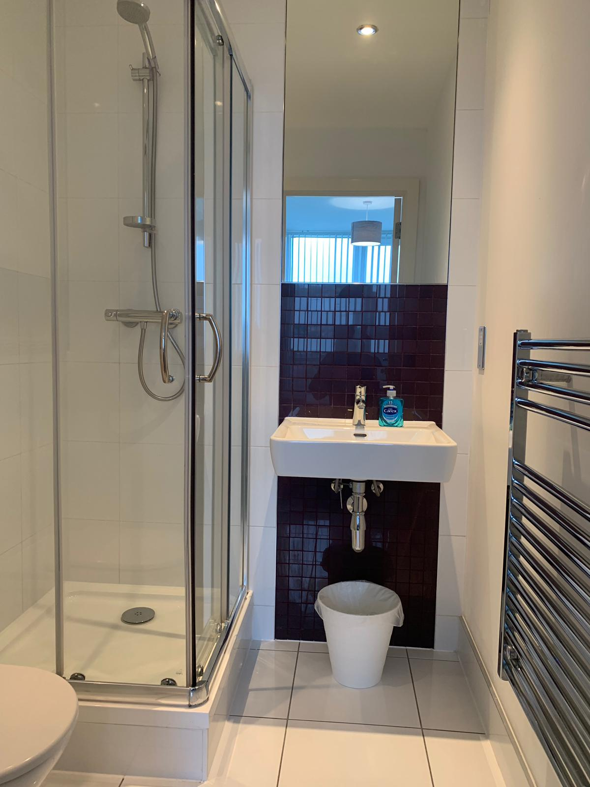 Shower at KD Tower Serviced Apartments