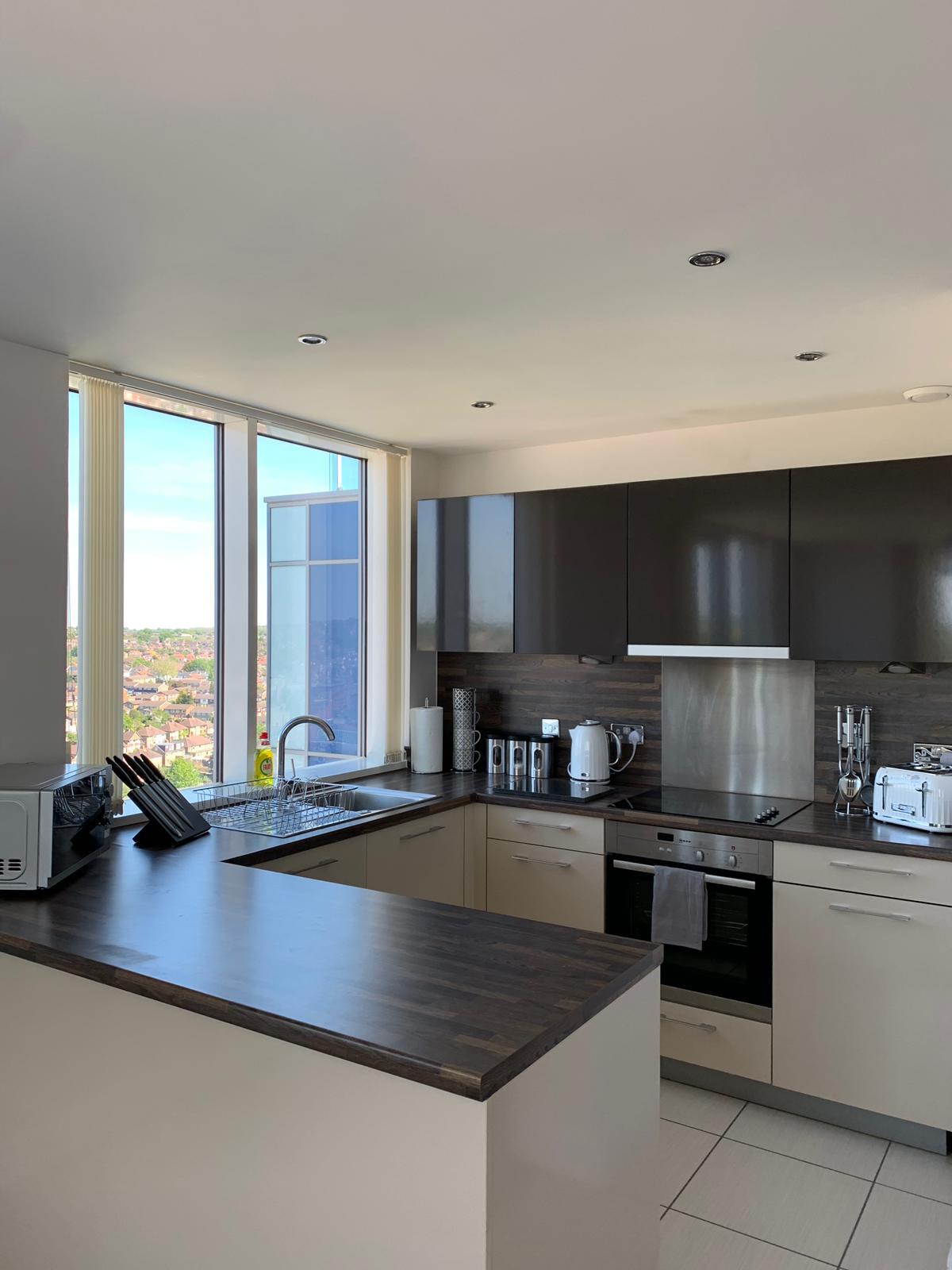 Kitchen facilities at KD Tower Serviced Apartments
