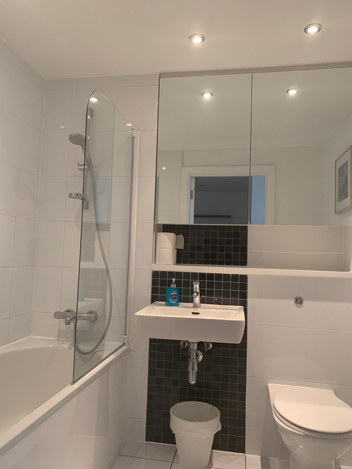 Modern bathroom at KD Tower Serviced Apartments