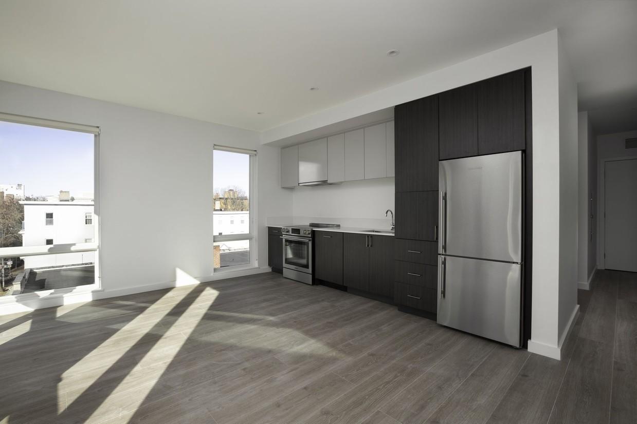 Spacious kitchen at Union House Apartment
