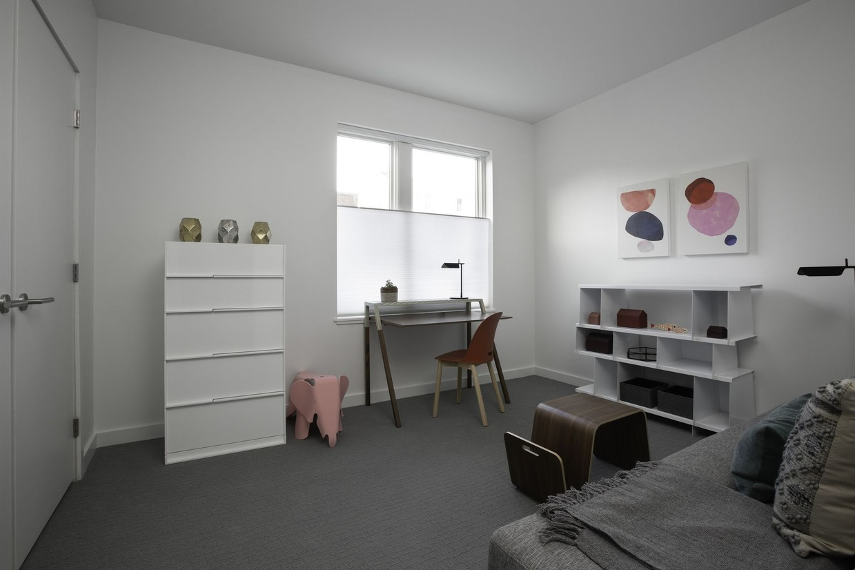 Desk area at Union House Apartment