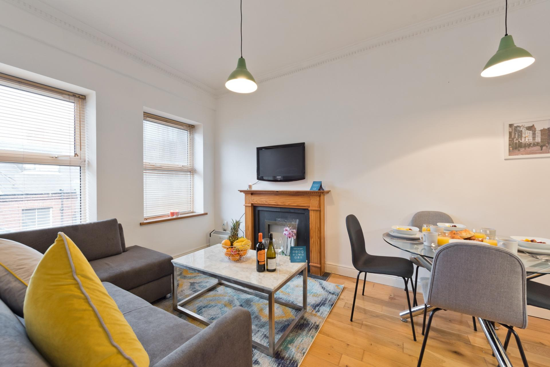 Open-plan at Georges Street Apartment