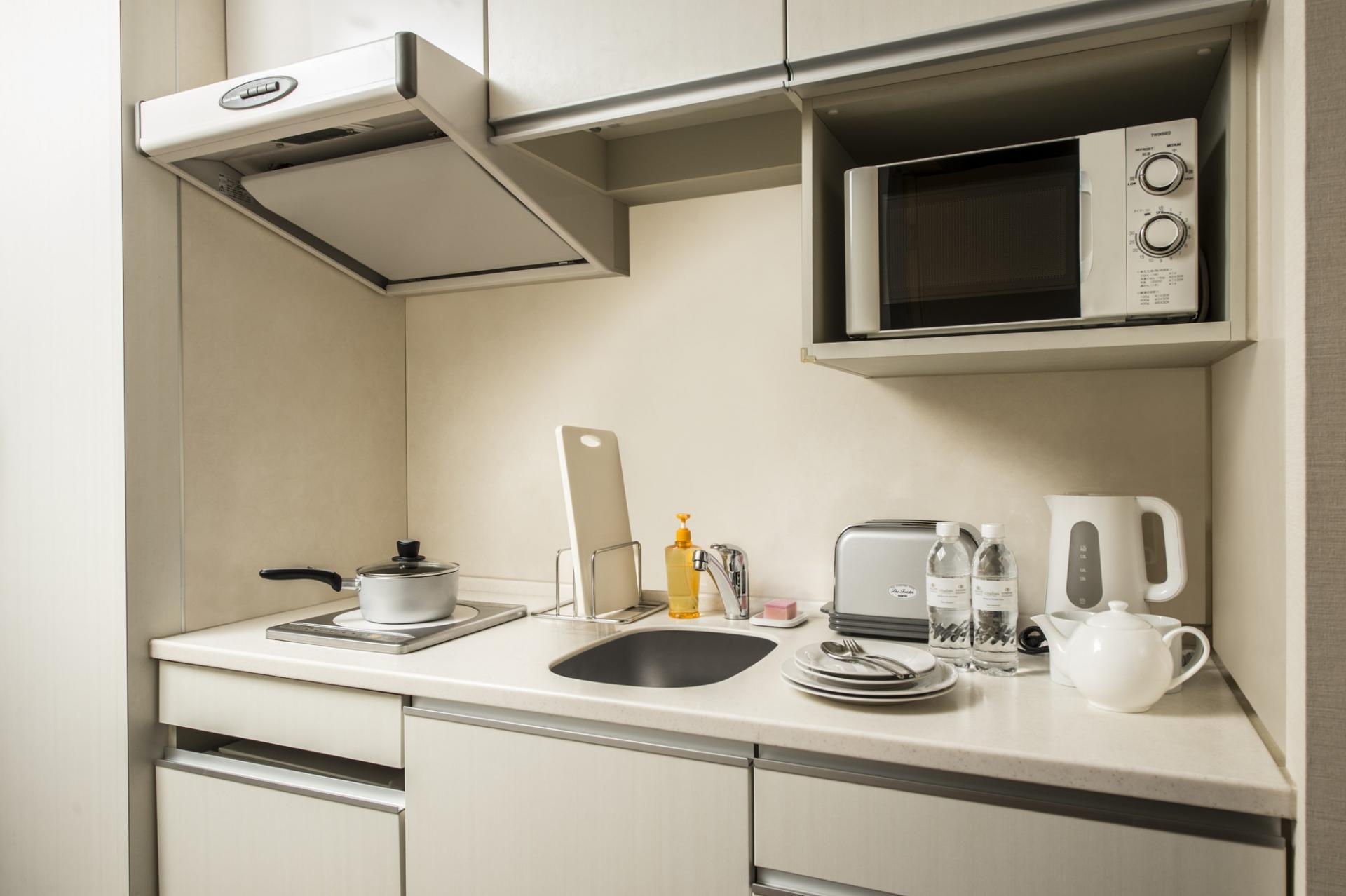 Kitchenette at Citadines Karasuma-Gojo Kyoto Apartments