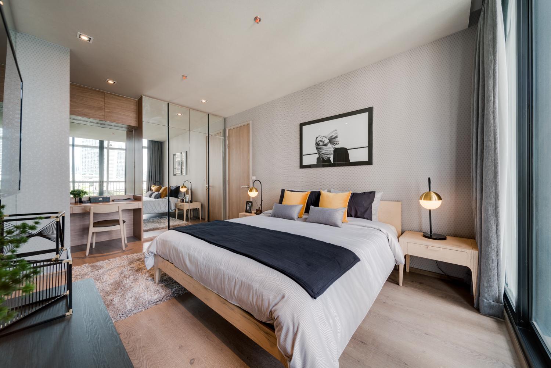 Bedroom at EM District Apartments