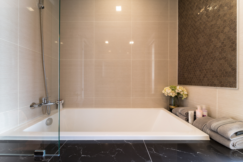 Bathroom at EM District Apartments
