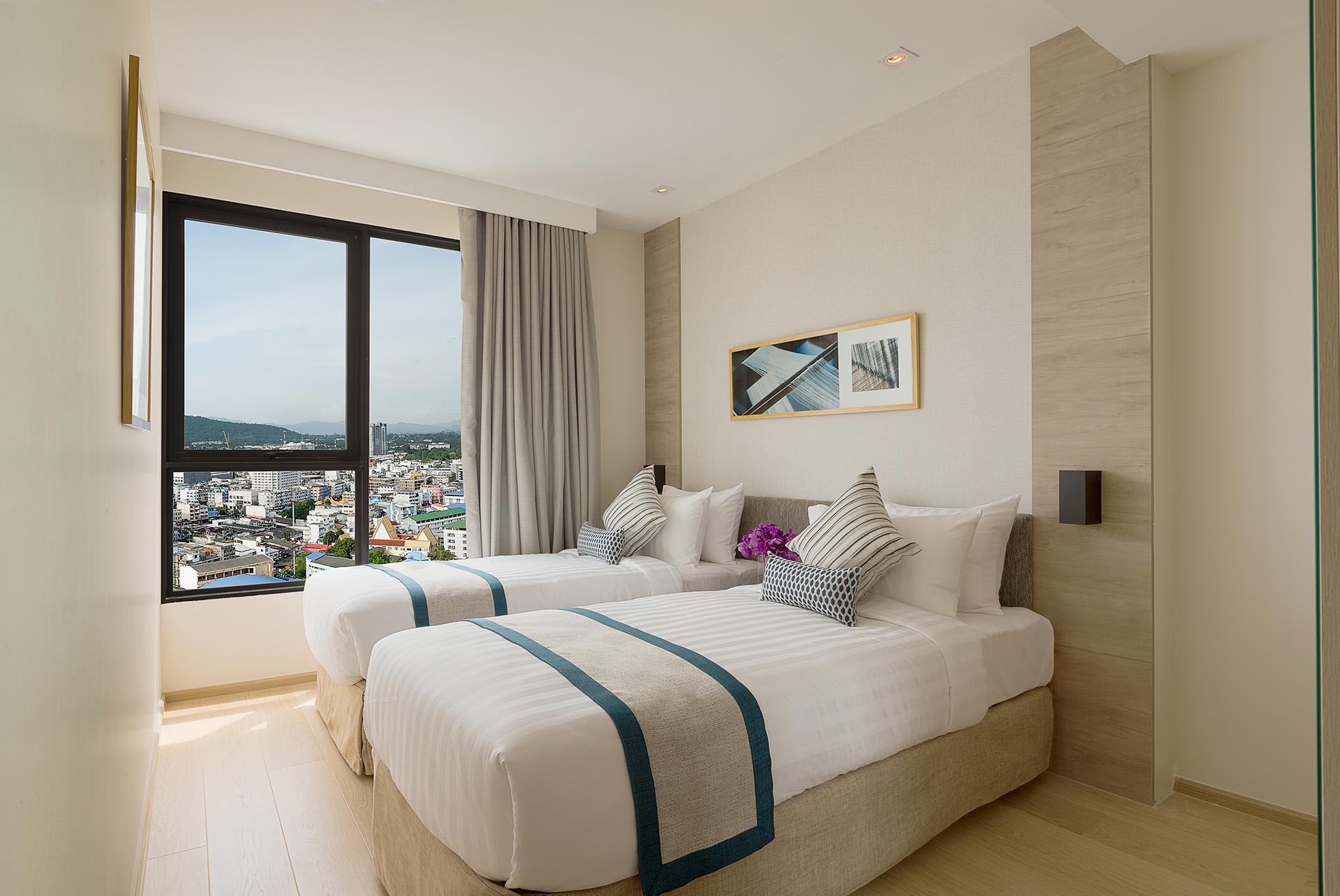 Bedroom in 2 bed exec at Somerset Harbourview Sri Racha Apartments