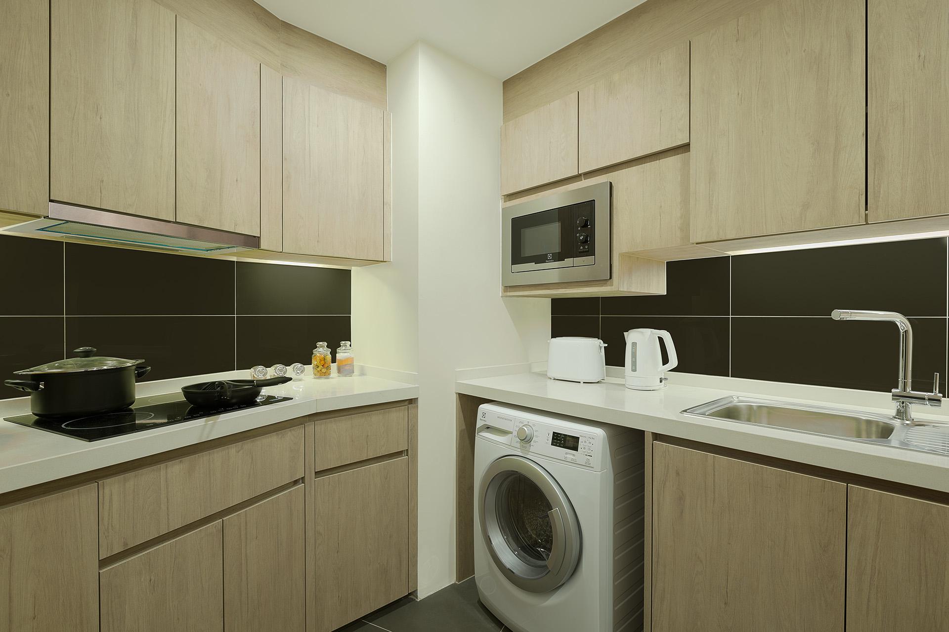 Kitchenette at Somerset Harbourview Sri Racha Apartments