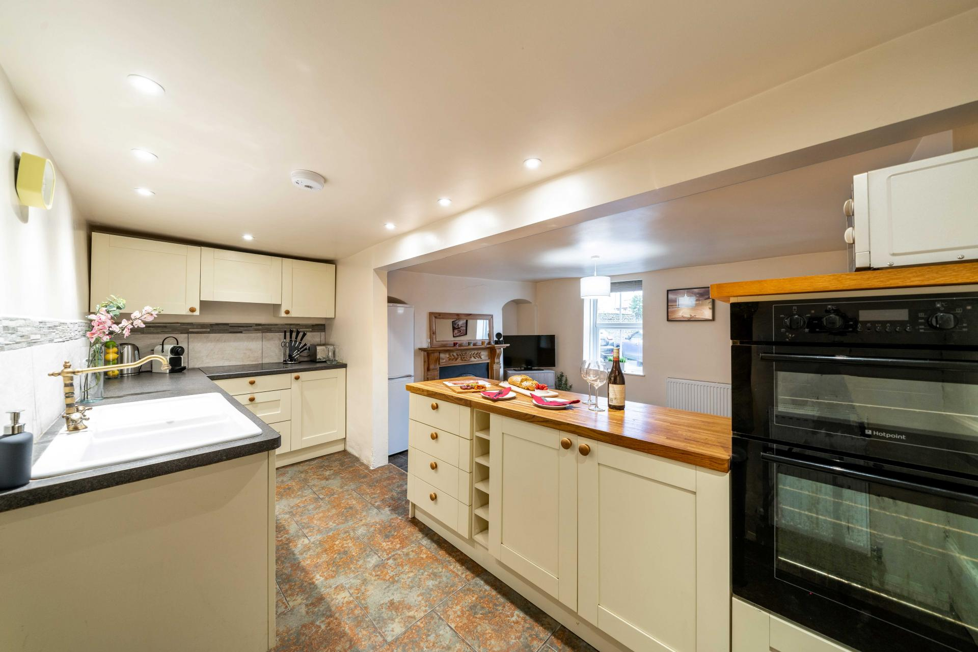 Kitchen space at Stocks Hill House