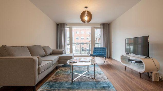Living room at Fernbank Apartments
