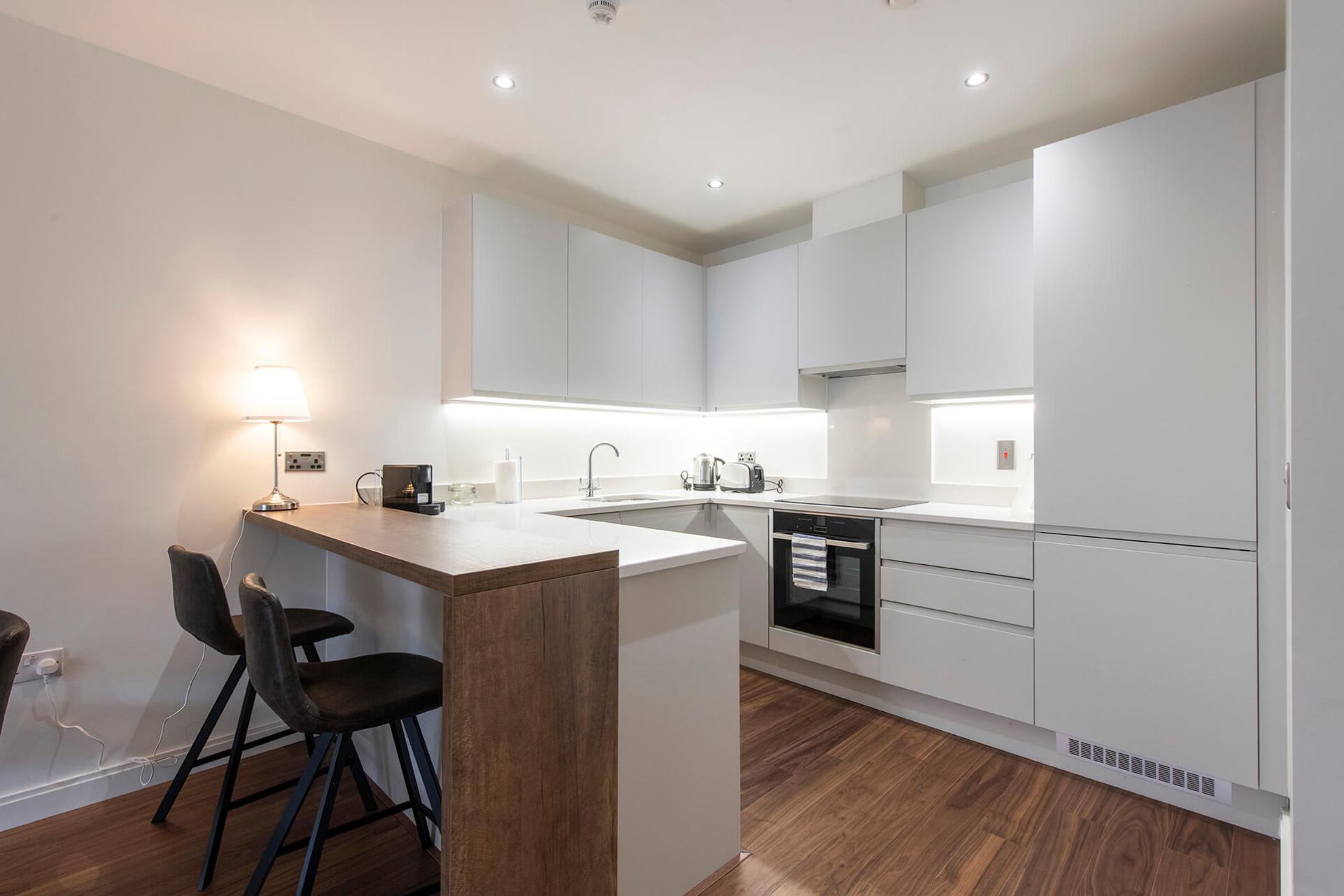 Kitchen at Fernbank Apartments