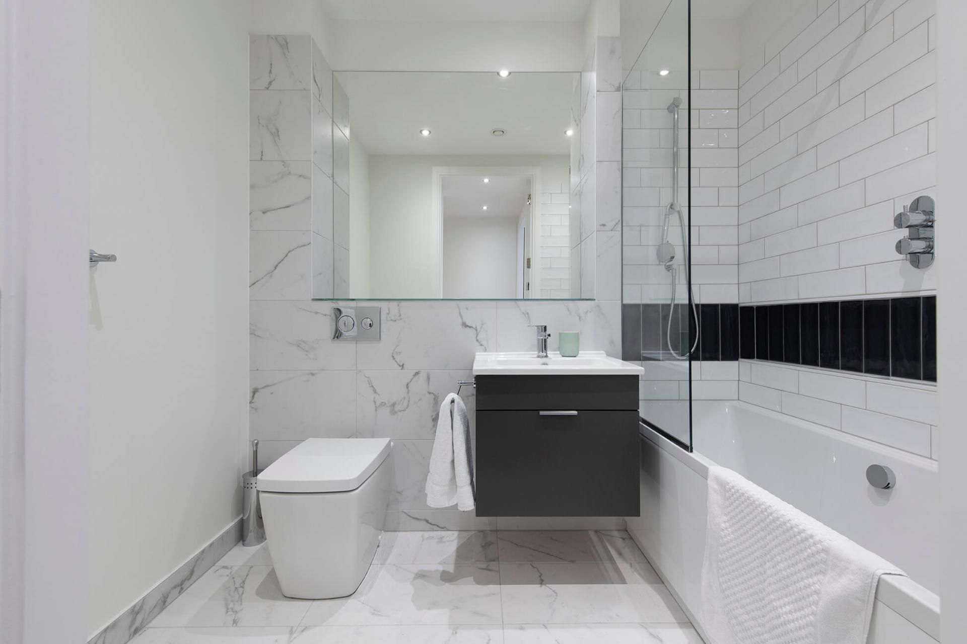 Bathroom at Fernbank Apartments