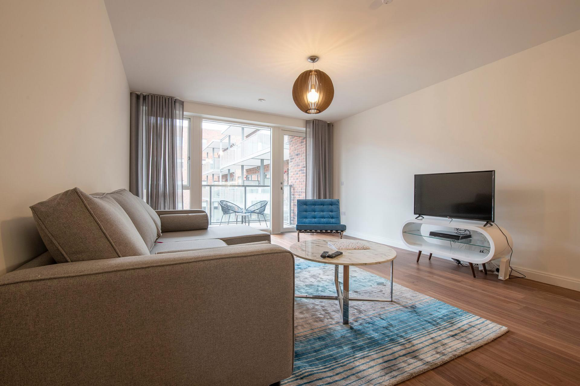 Spacious living area at Fernbank Apartments