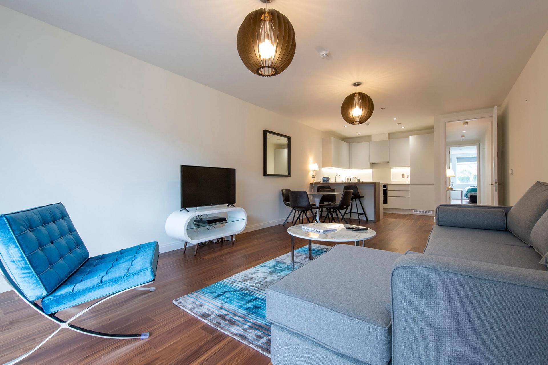 Stylish living area at Fernbank Apartments