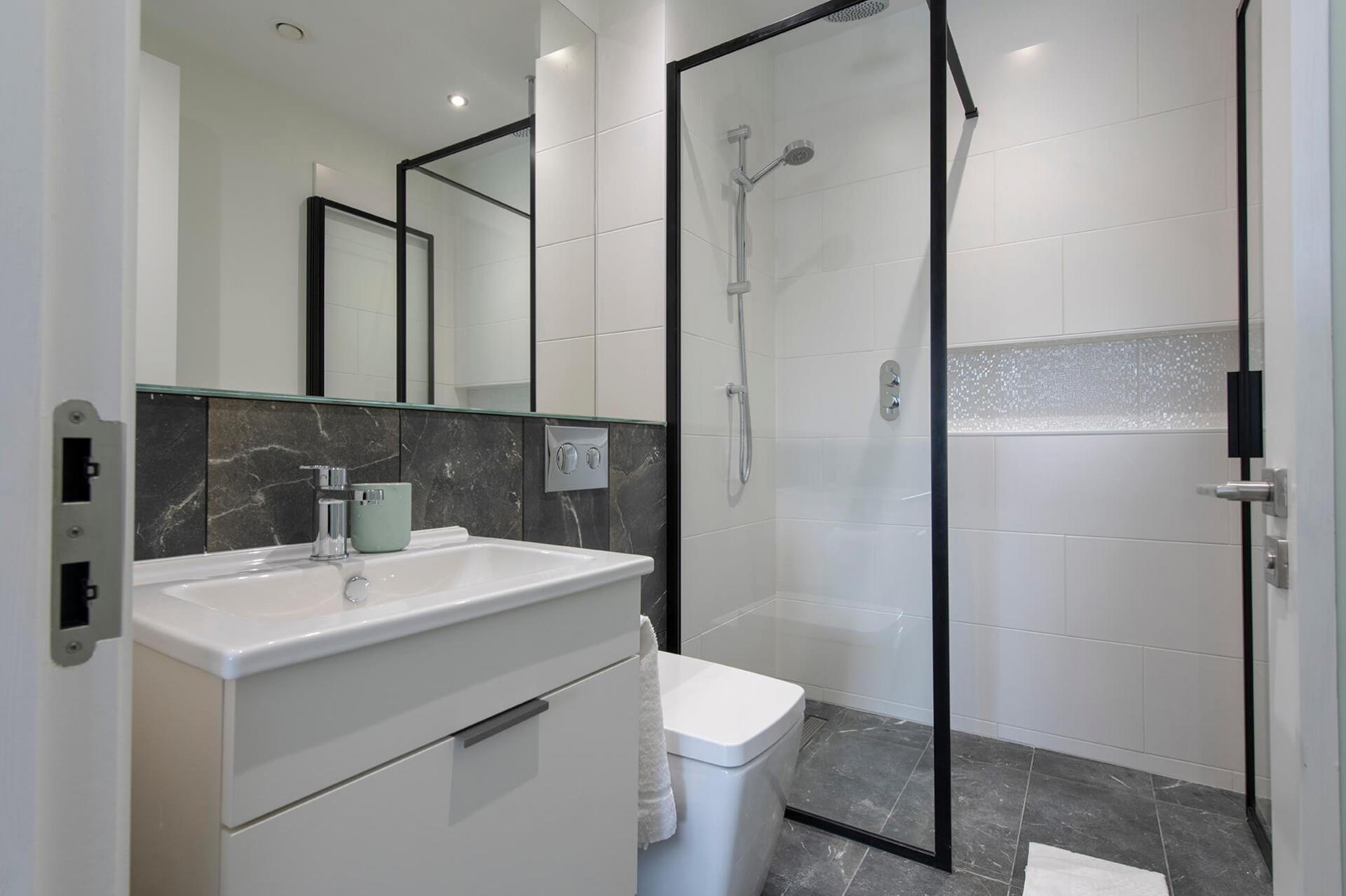 Shower at Fernbank Apartments