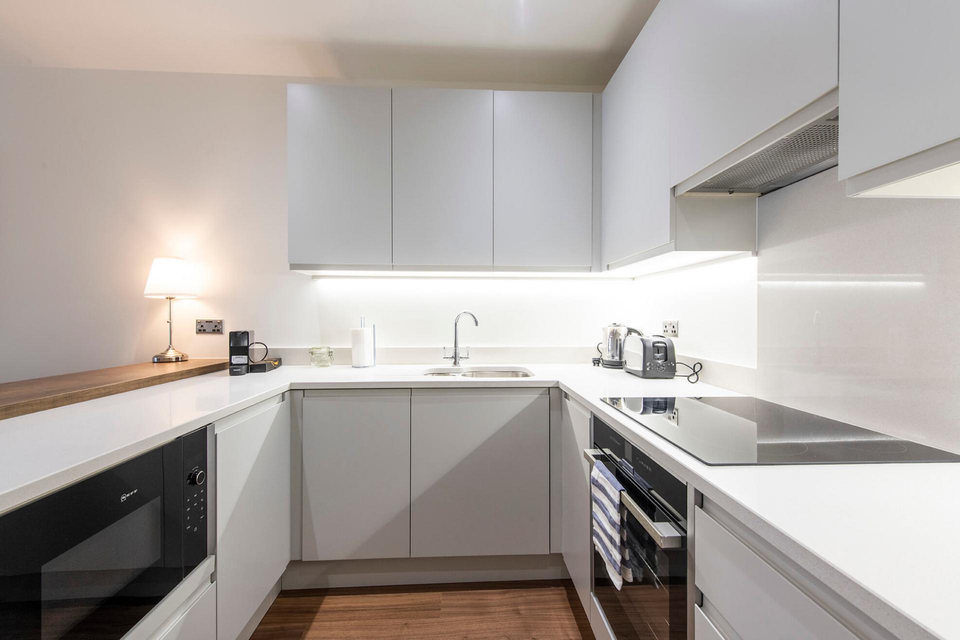 Modern kitchen at Fernbank Apartments
