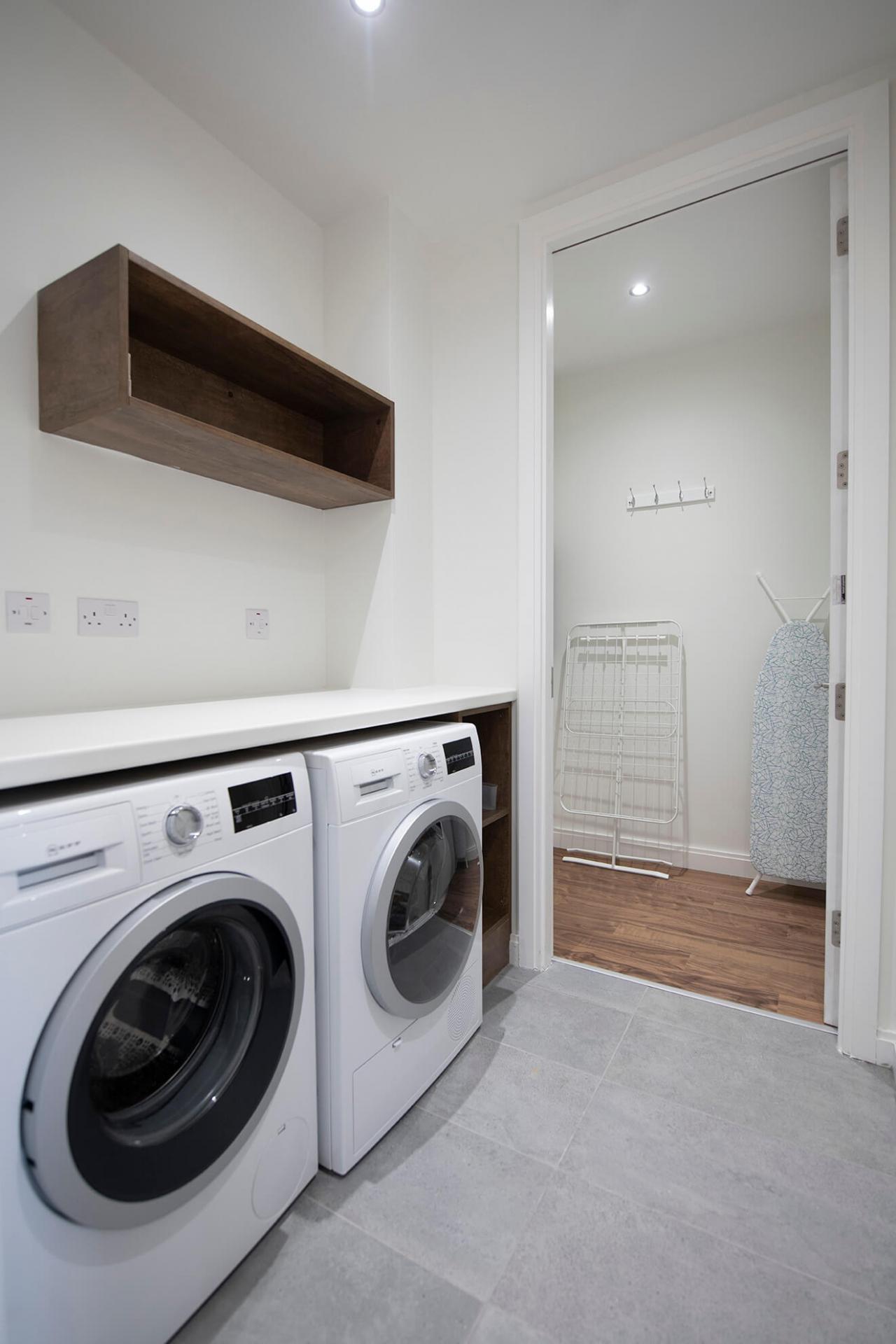 Laundry facilities at Fernbank Apartments