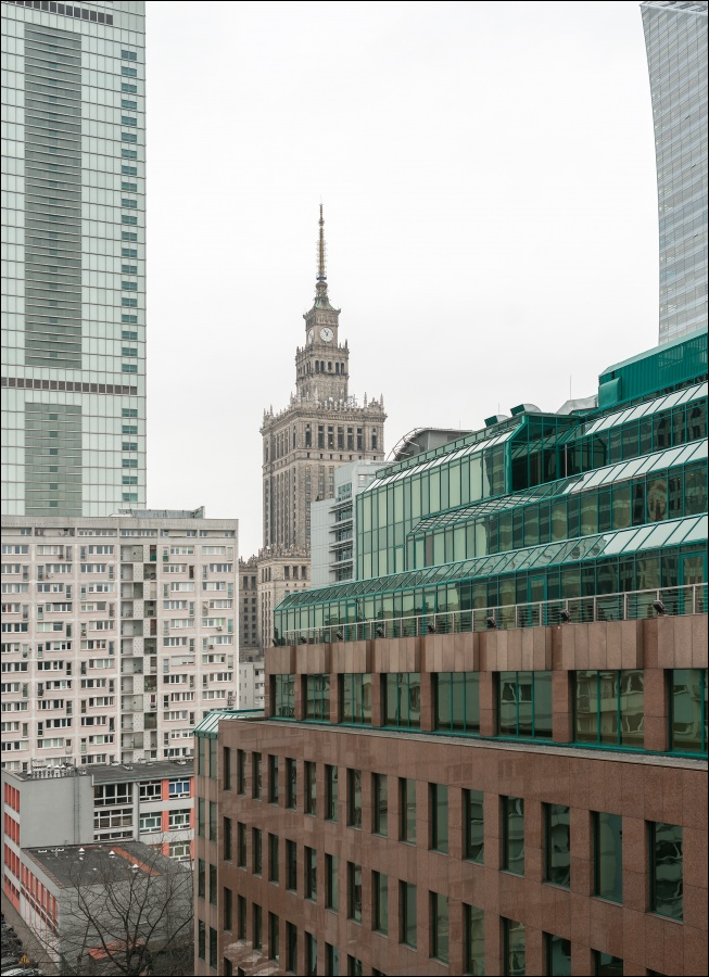 View from Rondo ONZ Apartment, Mirów, Warsaw
