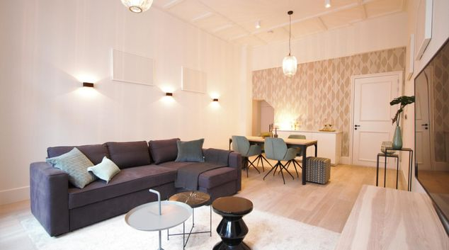 Lounge at Frederiks Square Serviced Apartments, Amsterdam