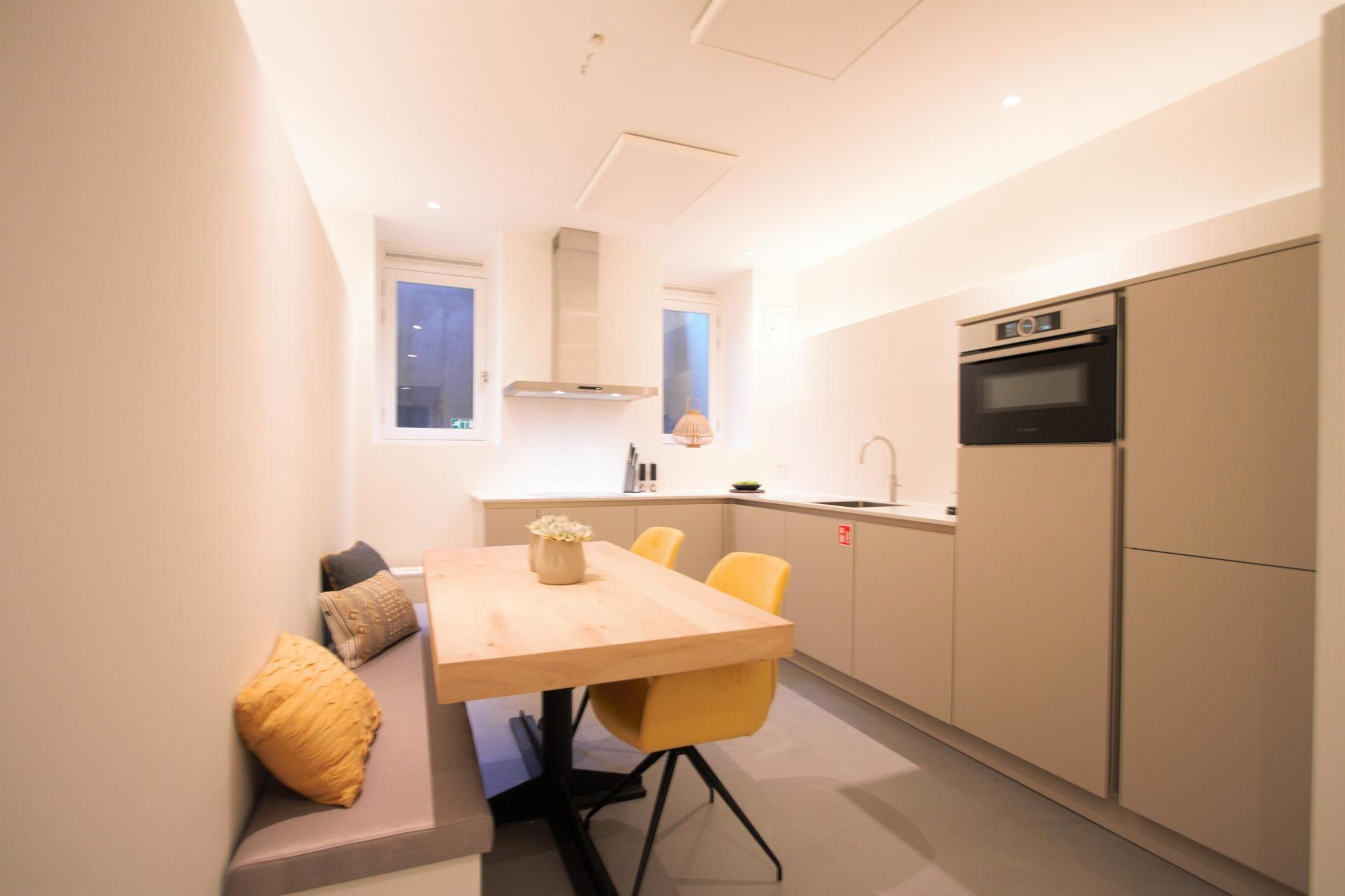 Kitchen at Frederiks Square Serviced Apartments, Amsterdam