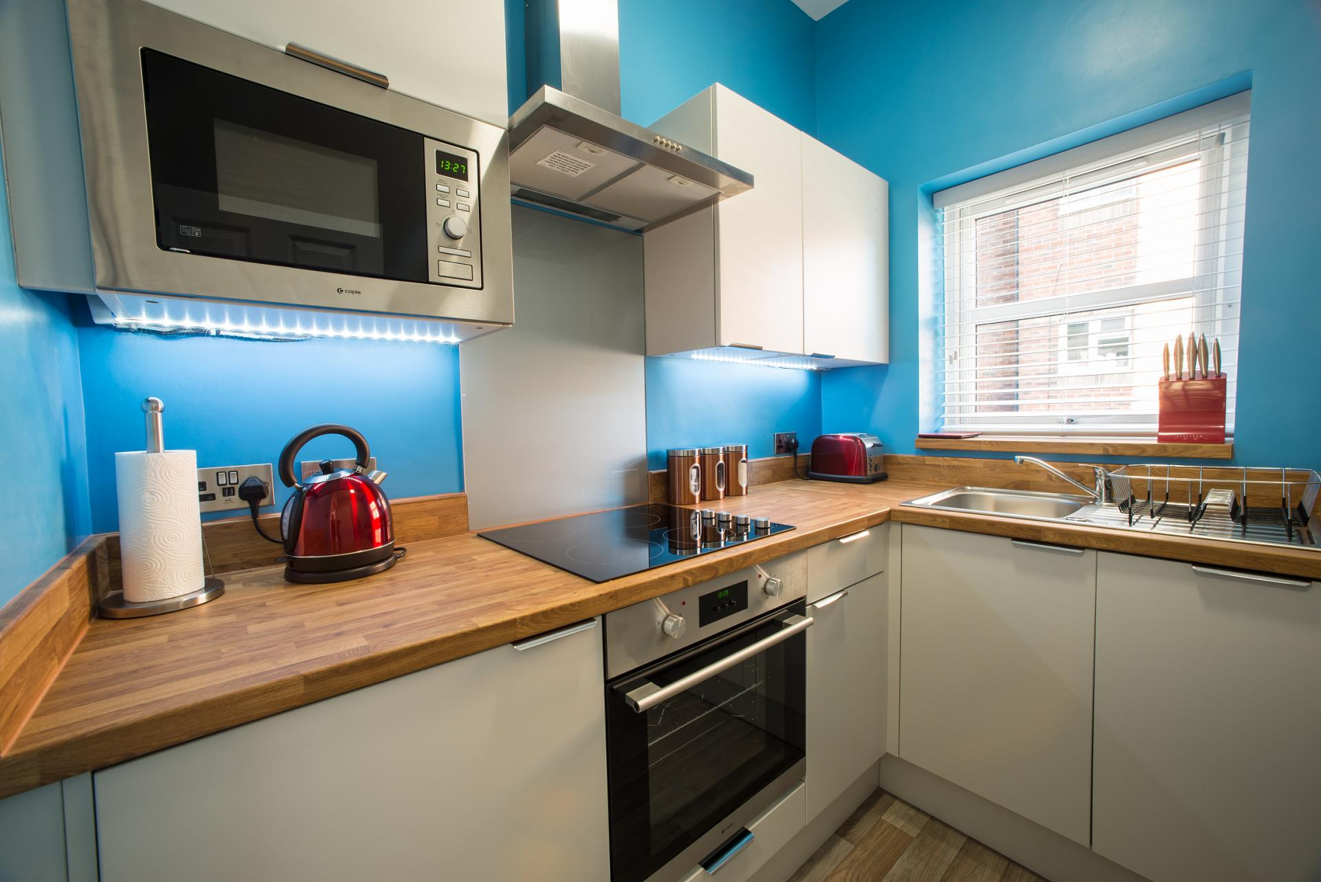 Equipped kitchen at Chine Garden Apartment