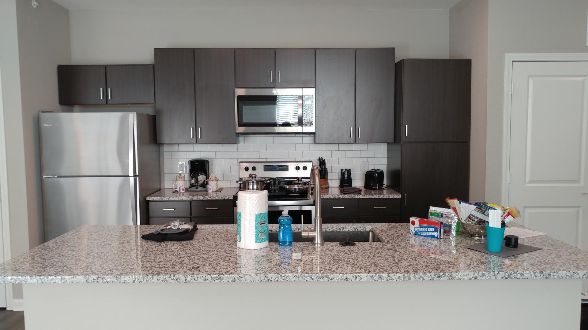 Kitchen at Watermark at Chesterfield Village Apartments